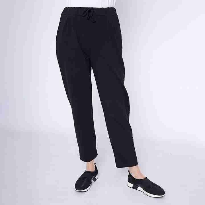 Drawstring Jersey Trouser(Black)