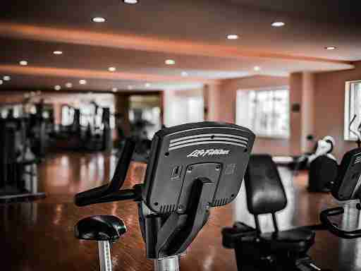 exercise bike at a gym