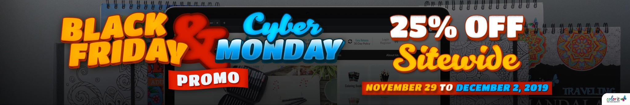 ColorIt's Black Friday and Cyber Monday Sale
