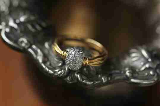 A vermeil yellow gold ring