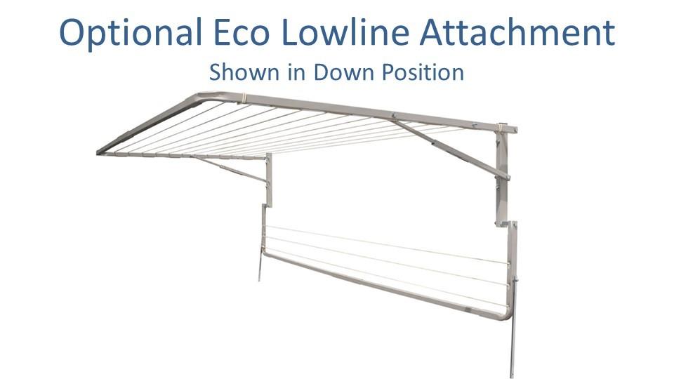 eco 120cm wide lowline attachment show in down position