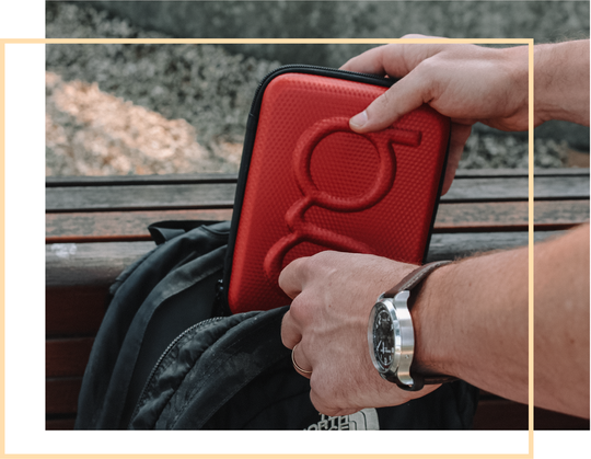 Diabetes Travel Case in Red