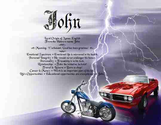 Muscle Car and Motorcycle Chopper Gift