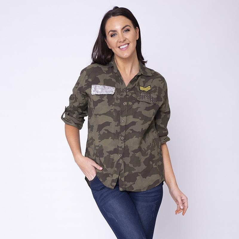 Army Glitter Pocket Shirt