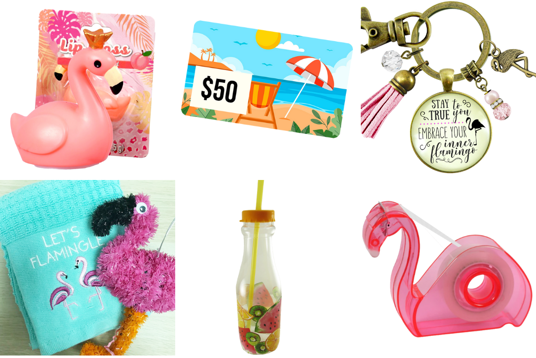 Flamingo goodies in our giveaway