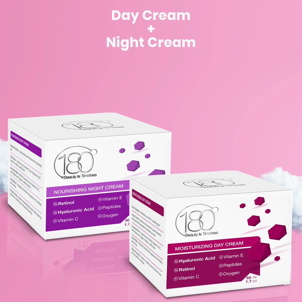 180 Essential DUO- Day & Night Cream 2 Full-Size Products