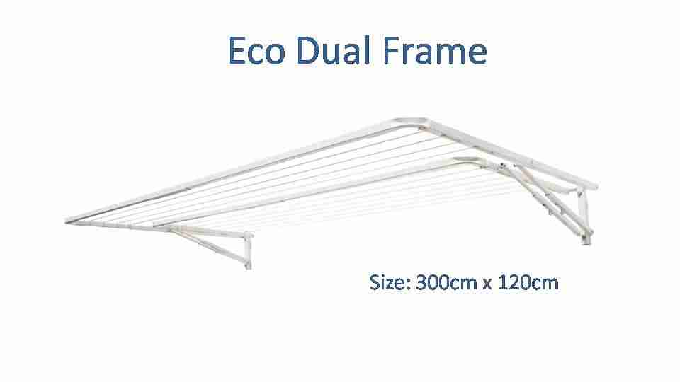 310cm dual frame clothesline