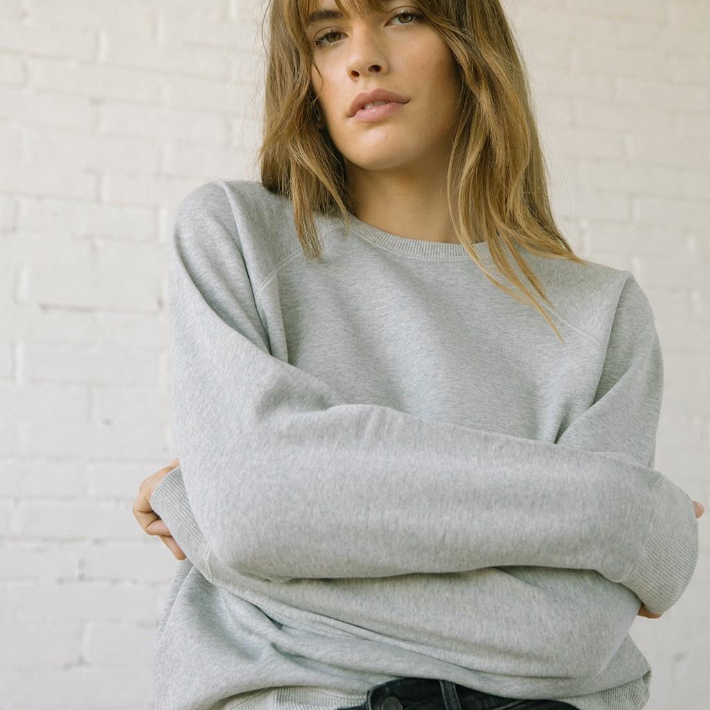 116 Varsity Sweatshirt Heather Grey