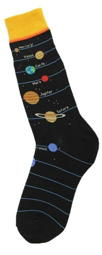 Gabby Maria Men's Outer Planets Crew Socks