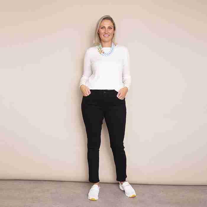 Fiona Denim Trouser - Plus Size(Black)