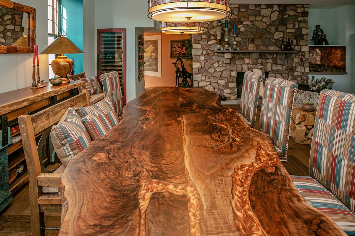 large live edge epoxy dining table