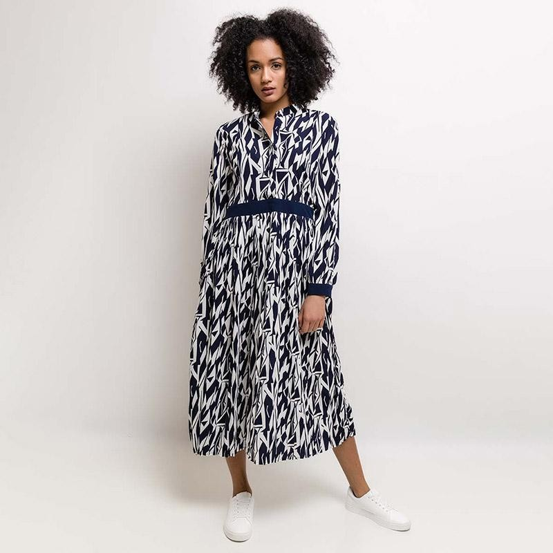 Selma Midi Dress Navy