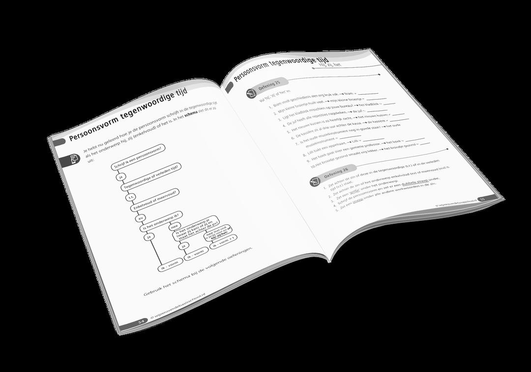 oefenboek werkwoordspelling inhoud