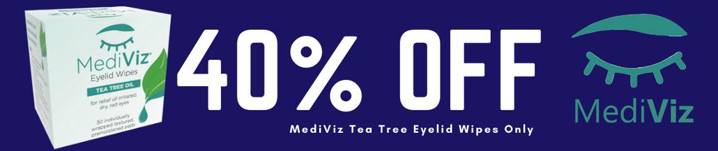 50% Off MediViz Tea Tree Oil Eyelid Wipes