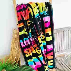 magnifiques serviettes de plage éponge velours Jacquard format XL et XXL