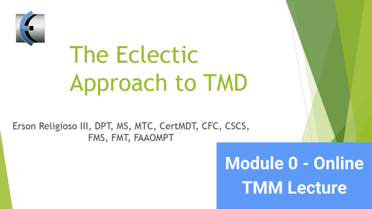 Module 0 - Online TMM Lecture