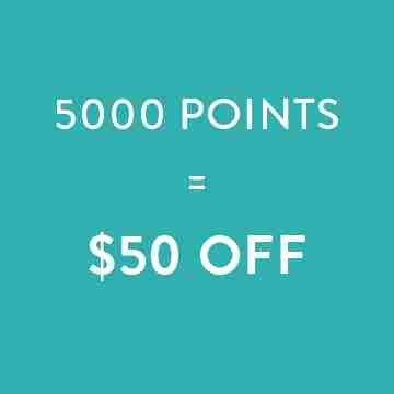 5000 points=$50 off