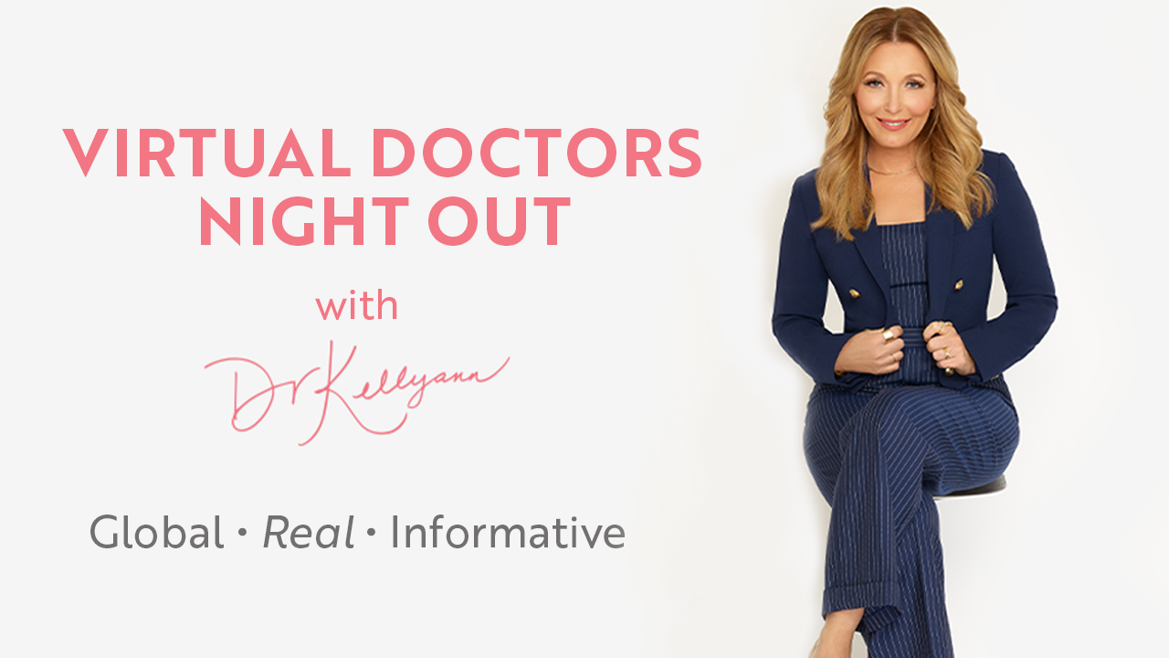 Virtual Doctors Night Out with Dr. Kellyann flyer