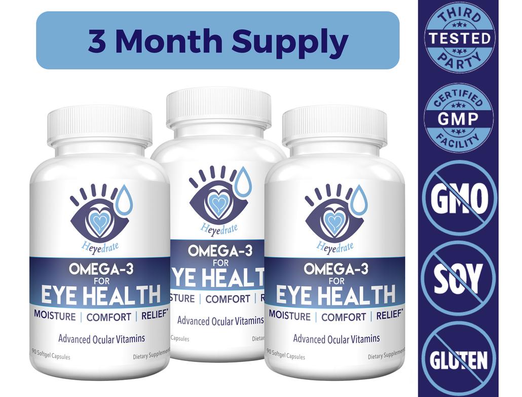 Heyedrate Omega-3 for Eye Health | 3-Month Supply