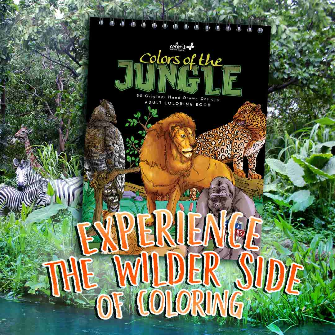ColorIt Colors of the Jungle Coloring Book for Adults