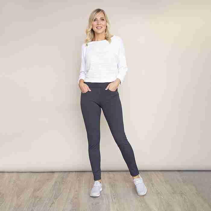 Ann's Stretch Waist Trousers(Grey)