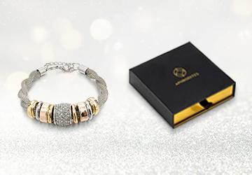 Entwined Silver Metal Bracelet & Necklace