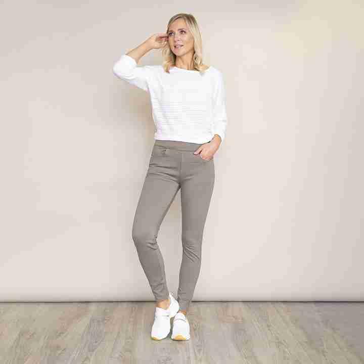 Stretch Waist Stud Pocket Trouser(Khaki)