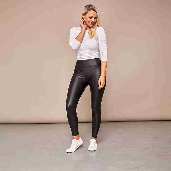 Wet Look PU Leggings (Black)