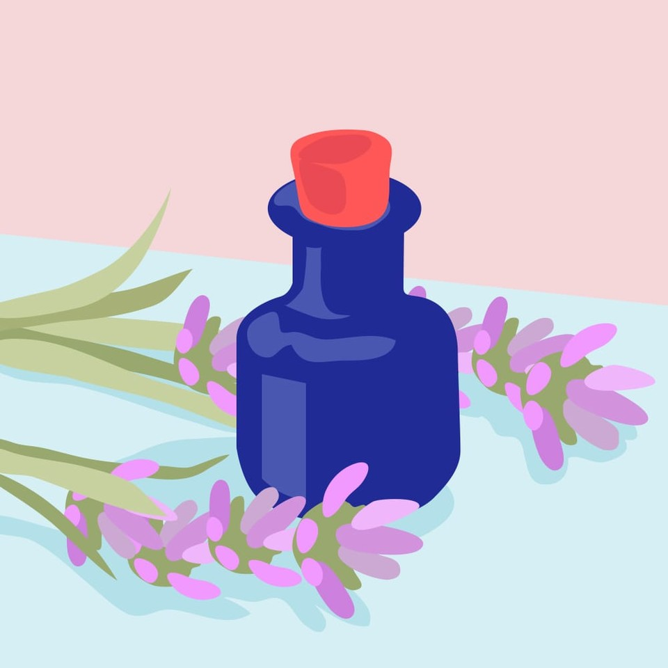 Self-care favorites like baths and essential oils (e.g., lavender) can also help you de-stress while improving your sleep.