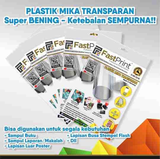 plastik mika transparan, paket usaha stempel