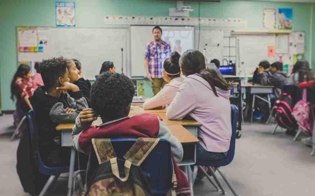 Classroom full of kids