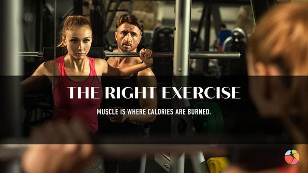 The Right Exercise Woman and Man Exercising in Gym