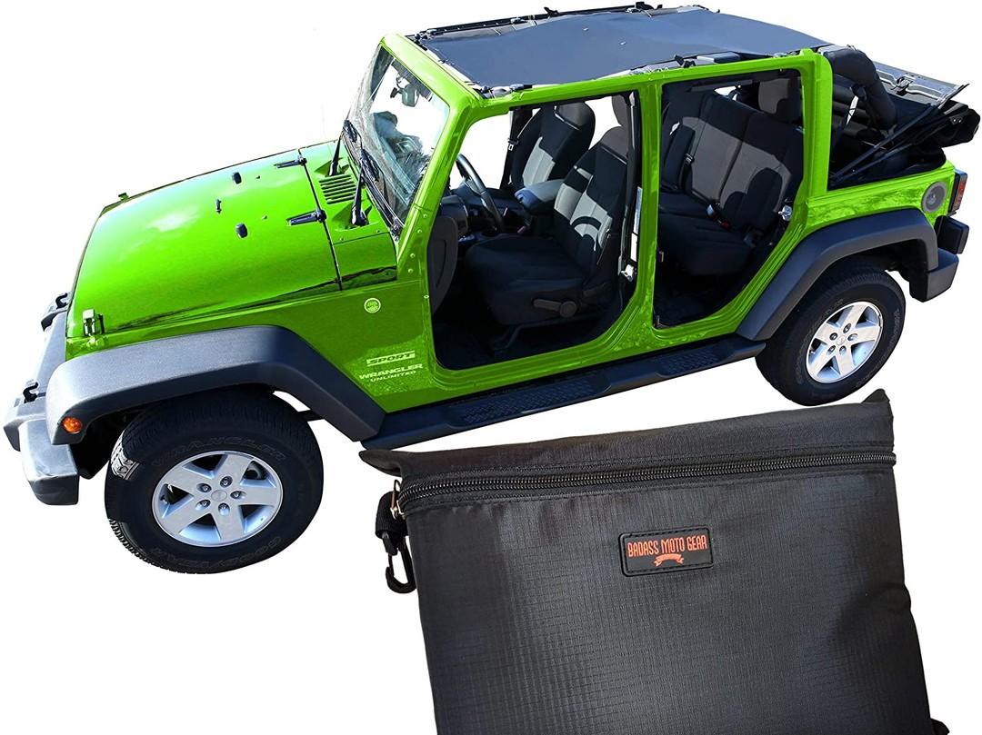 Badass Moto Jeep Wrangler JKU 4Dr Mesh Sun Shade Top Cover