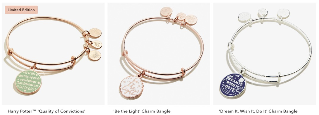 Alex and Ani Positive Message Jewelry