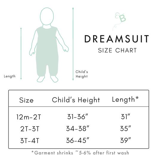 dreamsuit size chart