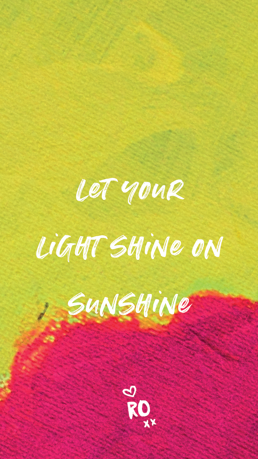 Let Your Light Shine On Sunshine - Ruby Olive Wallpaper