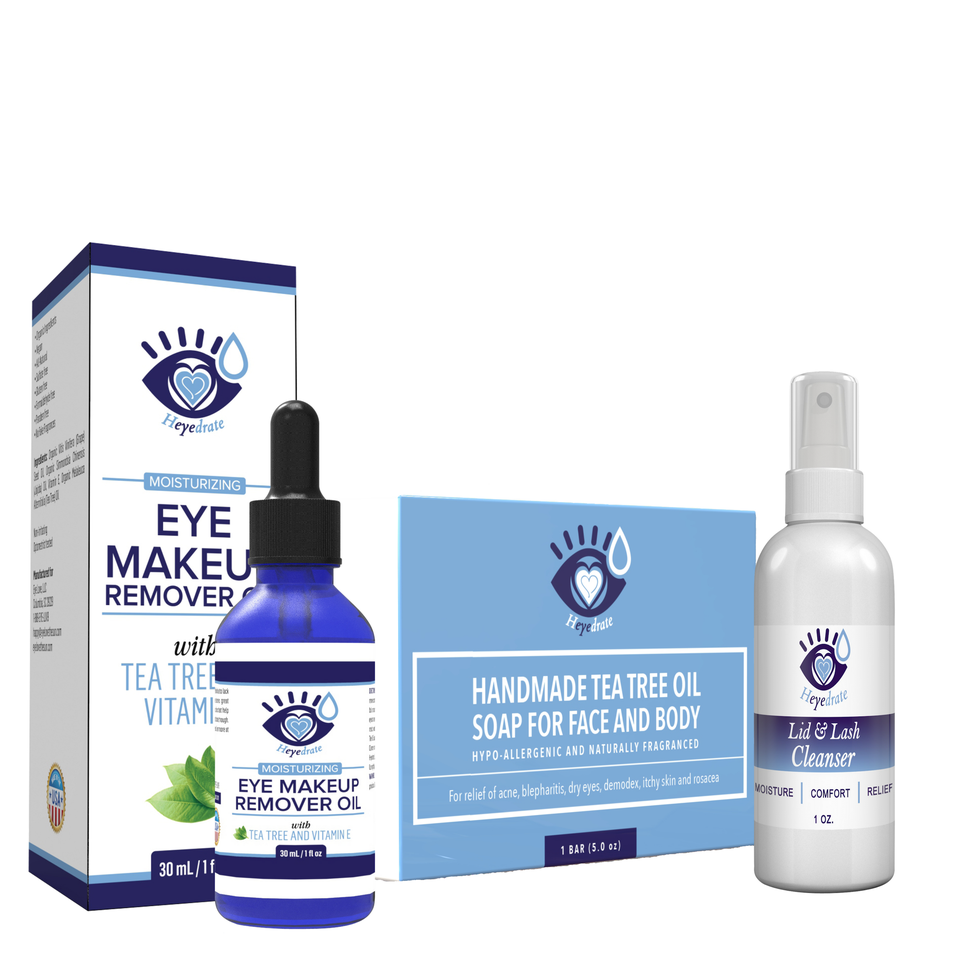 Heyedrate Eye Makeup Remover and Tea Tree Oil Face Soap