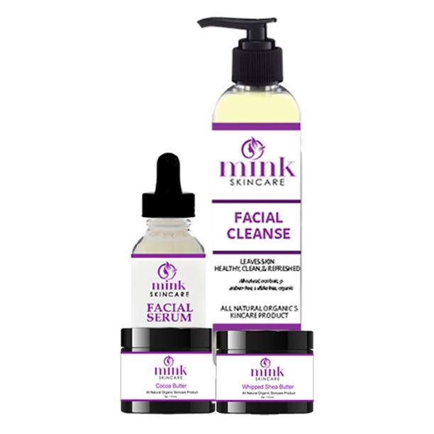 Mink Skincare Kit #4 with Facial Serum