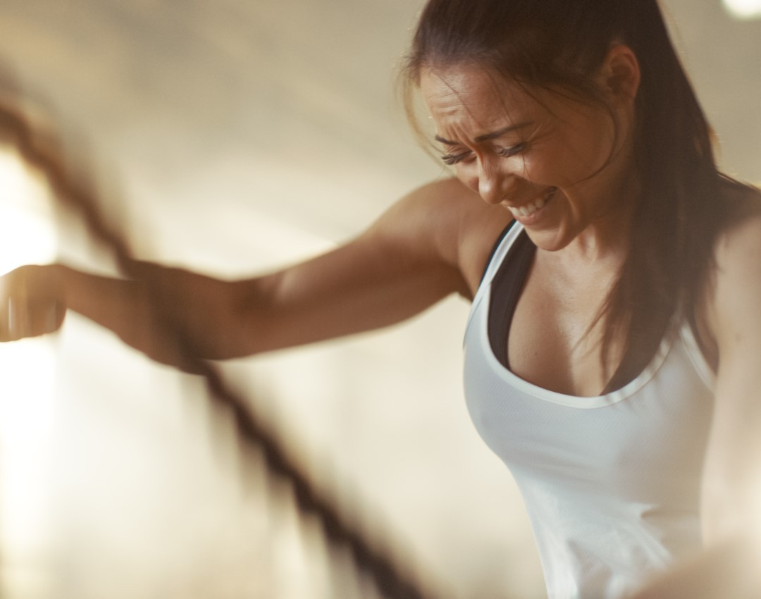 A female CrossFit athlete dealing with Adrenal Fatigue.
