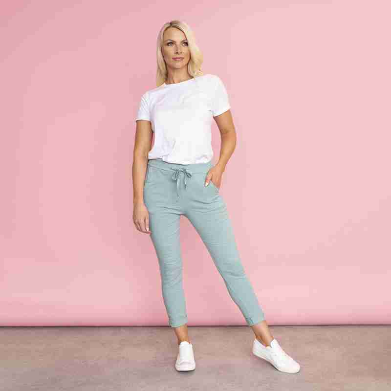 Sia Relaxed Stretch Jogger (Mint)