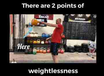 points of weightlessness kettlebell swing