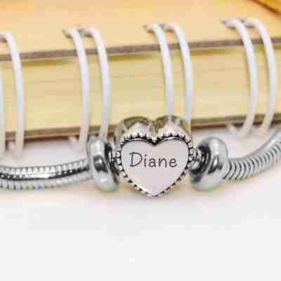 Framed Heart for Moments Charm Bracelet