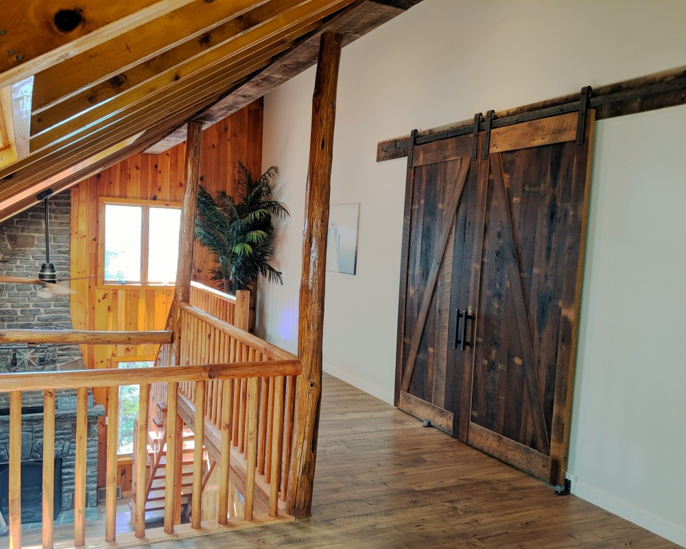 z style reclaimed wood barn doors