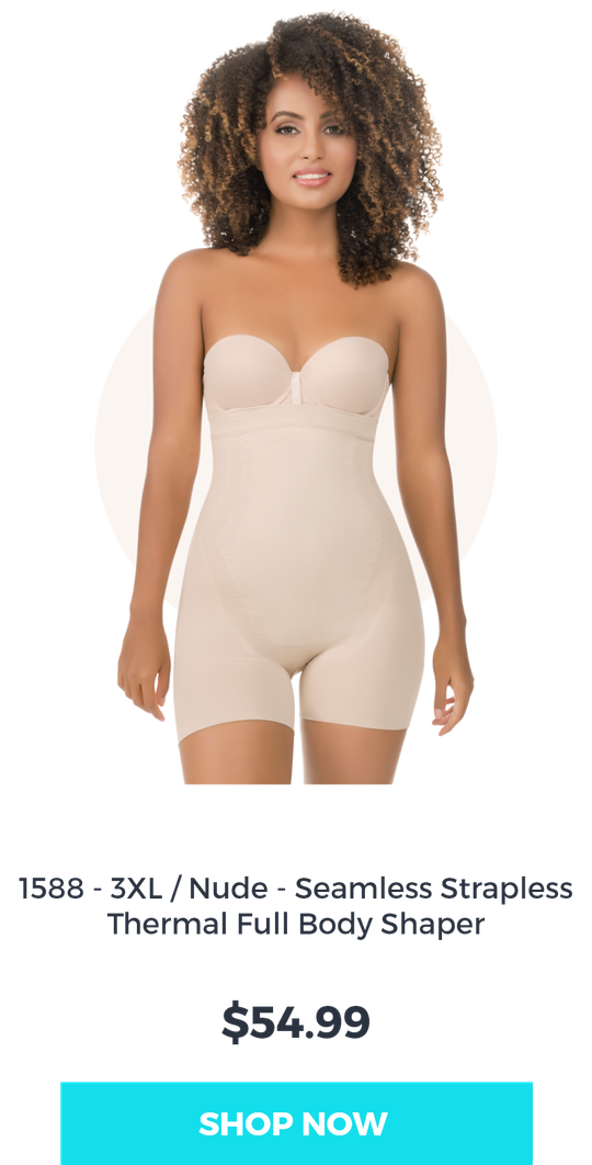 abdomen control body shaper with thermal action in color nude