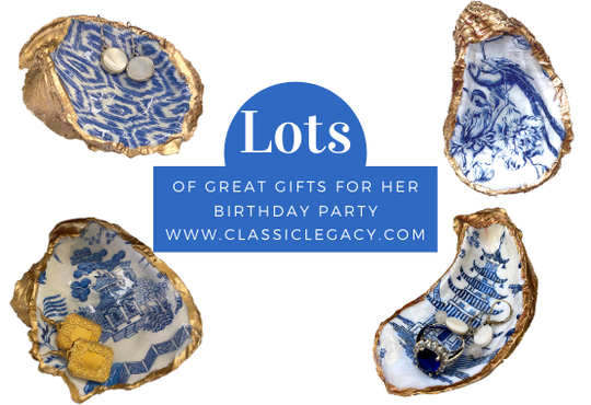 Oyster Shell Jewelry Dish Birthday Gift Ideas