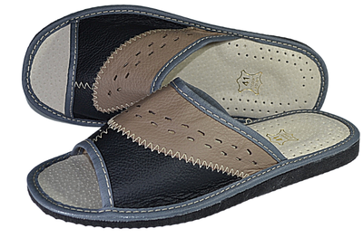Edward mens Leather Slippers - Reindeer Leather