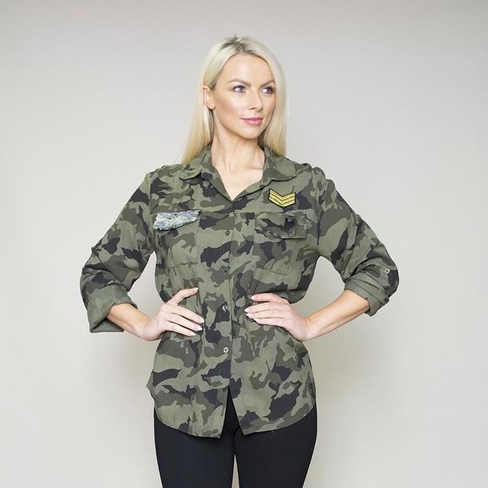 Army Glitter Pocket Shirt