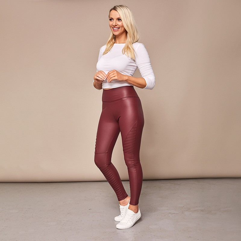 Biker Style Wet Look Leggings
