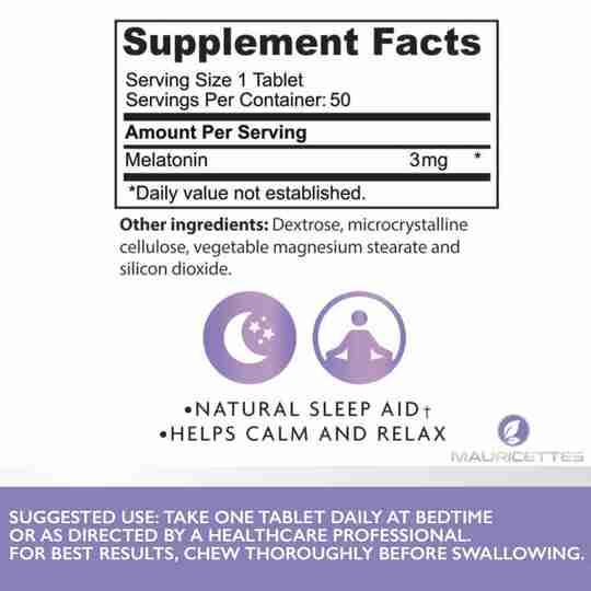 Chewable Melatonin Ingredient Panel