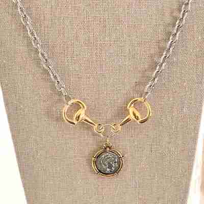 Silver and gold alexander necklace - hand stamped trinkets jewelry